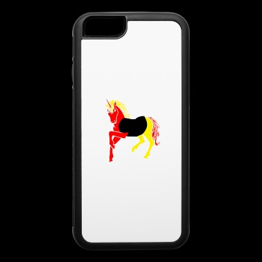 unicorn in national flag germany gift - iPhone 6/6s Rubber Case