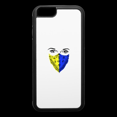 Yellow Blue Bandana Face - iPhone 6/6s Rubber Case