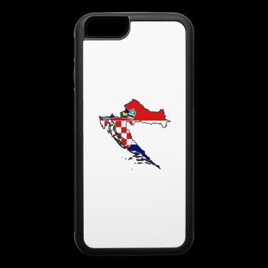 flag Croatia map Hrvatska - iPhone 6/6s Rubber Case
