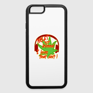 Weed Cannabis Hemp Ganja Gift THC Smoke Leaf Beat - iPhone 6/6s Rubber Case