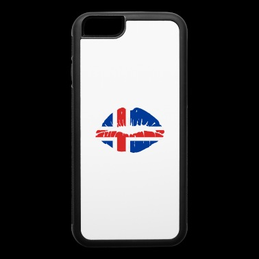 Iceland Flag Kiss World Champions soccer gift idea - iPhone 6/6s Rubber Case