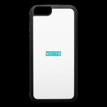 White Text on Ocean Blue - People will freak out! - iPhone 6/6s Rubber Case