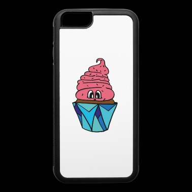 sweet little smiling cupcake, great gift idea - iPhone 6/6s Rubber Case