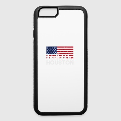 Houston TX American Flag Skyline Distressed - iPhone 6/6s Rubber Case