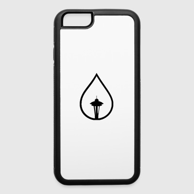 Seattle Space Needle Rain Drop - iPhone 6/6s Rubber Case