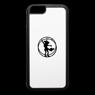Fabulous German wheel unicorn white outline - iPhone 6/6s Rubber Case