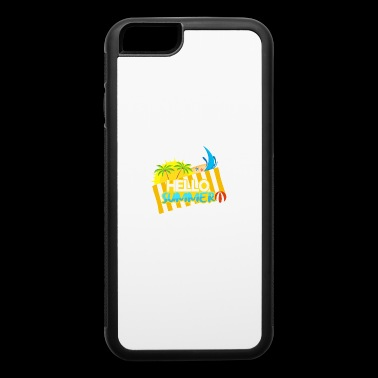 Lettering sun and beach umbrella - iPhone 6/6s Rubber Case