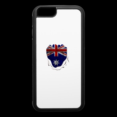 Funny Australian Flag Ripped Abs - iPhone 6/6s Rubber Case
