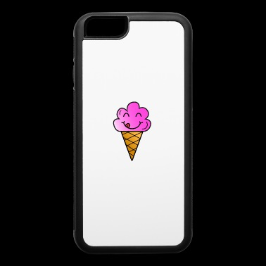 Ice cream children present summer hungry funny - iPhone 6/6s Rubber Case