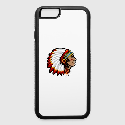 indian_with_plumage_head_cover - iPhone 6/6s Rubber Case