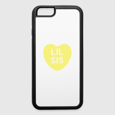 Lil Sis Yellow Candy Heart - iPhone 6/6s Rubber Case