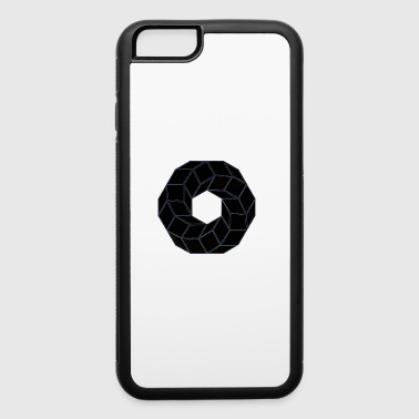 Circle Geometry Present Art Design Black - iPhone 6/6s Rubber Case