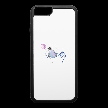 sweet penguin with ballon , gift idea for summer - iPhone 6/6s Rubber Case