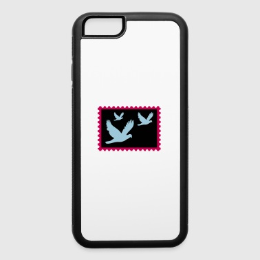 flying doves on a stamp - iPhone 6/6s Rubber Case
