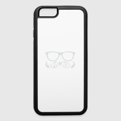 White Epic Nerd Logo - iPhone 6/6s Rubber Case