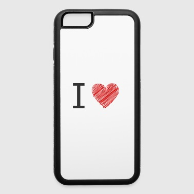 I love grey red - iPhone 6/6s Rubber Case