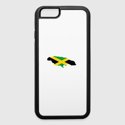 Flag map of Jamaica - iPhone 6/6s Rubber Case