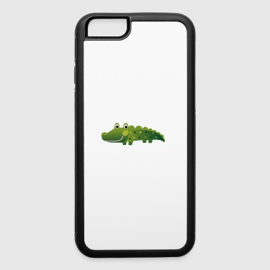 crocodile reptile alligator animal wildlife kids p - iPhone 6/6s Rubber Case