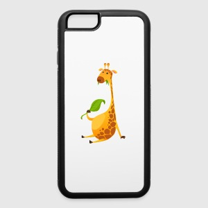 giraffe-chewing-on-a-leaf - iPhone 6/6s Rubber Case