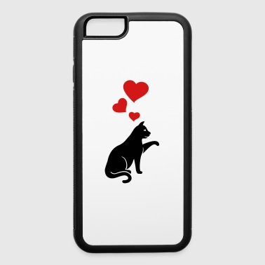 cat with hearts - iPhone 6/6s Rubber Case