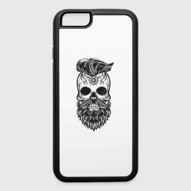 hipster skull - iPhone 6/6s Rubber Case