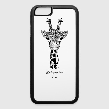 A head of a giraffe - iPhone 6/6s Rubber Case