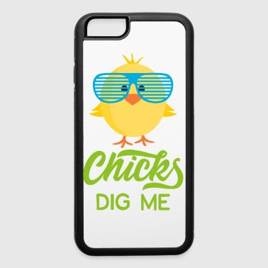 Chicks Dig Me Happy Easter 80s Retro Sunglasses - iPhone 6/6s Rubber Case