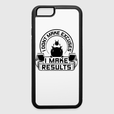 Results Sports Gym Quotes - iPhone 6/6s Rubber Case