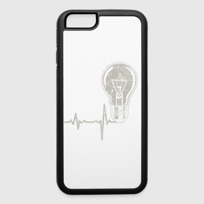 shirt gift heartbeat electrician - iPhone 6/6s Rubber Case