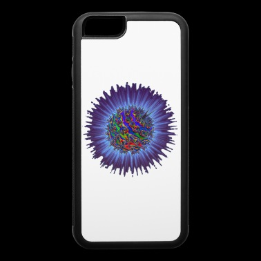 Blue Spike Rainbow Fractal Alien Microbes - iPhone 6/6s Rubber Case