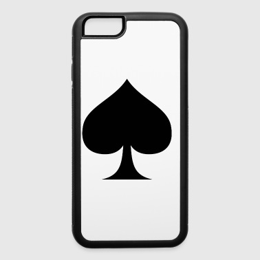 Suit of Spades Spade Pik Peak Mountaintop Cardgame - iPhone 6/6s Rubber Case