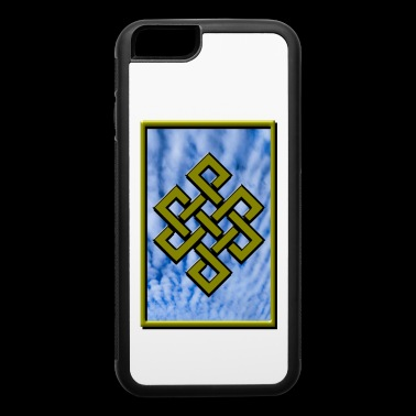 Golden Karma Endless Knot or Eternal Knot Poster - iPhone 6/6s Rubber Case