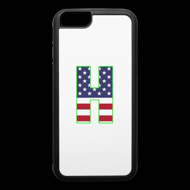 USA letter H Hotel - iPhone 6/6s Rubber Case