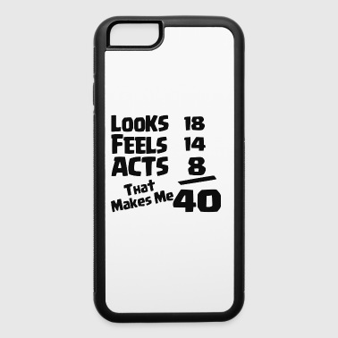 40TH BIRTHDAY - iPhone 6/6s Rubber Case