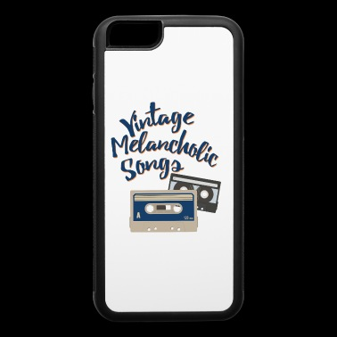 Vintage melancholic songs - iPhone 6/6s Rubber Case