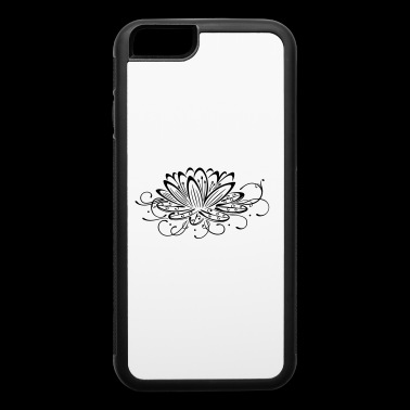 Filigree lotus with leaves, yoga - iPhone 6/6s Rubber Case
