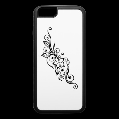 Filigree Tribal tendril with flowers and leaves. - iPhone 6/6s Rubber Case