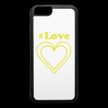 Yellow hearts for people the like love - iPhone 6/6s Rubber Case