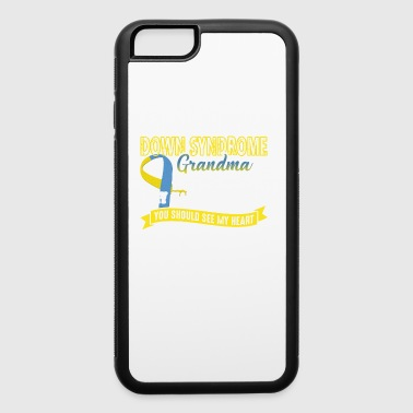 Down Syndrome Grandma Full Heart Shirt - iPhone 6/6s Rubber Case