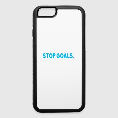 Funny Eat Sleep Stop Goals Repeat soccer gift - iPhone 6/6s Rubber Case