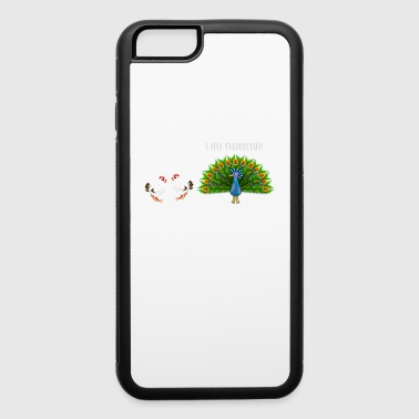 I Feel Overdressed Funny Peacock Sarcastic Humor - iPhone 6/6s Rubber Case