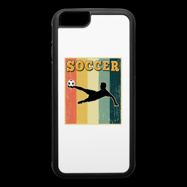 Vintage Retro Old School Soccer - iPhone 6/6s Rubber Case