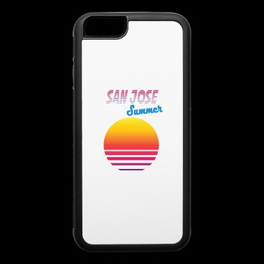 San Jose retro, vintage, 80s - iPhone 6/6s Rubber Case