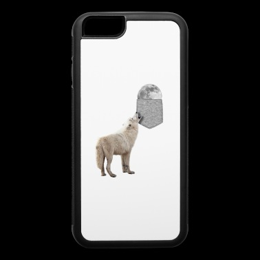 Wolf Howling To Moon In Your Fake Pocket Funny - iPhone 6/6s Rubber Case