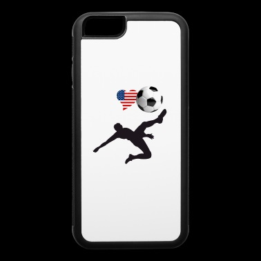 i Love Soccer America Ball goal Club Sport - iPhone 6/6s Rubber Case