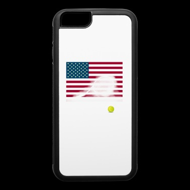 tennis racket American flag Wimbledon Court Hit - iPhone 6/6s Rubber Case
