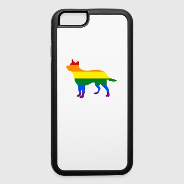 Gay Pride Dog Australian Cattle Dog Rainbow Flag Gay Dog - iPhone 6/6s Rubber Case