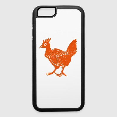 hen linolcut - iPhone 6/6s Rubber Case