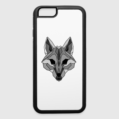 Lineart of a wolf / wolf gray - iPhone 6/6s Rubber Case