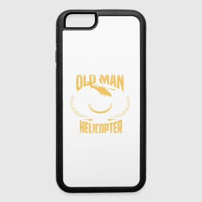 OLD MAN HELICOPTER PILOT SHIRT - iPhone 6/6s Rubber Case